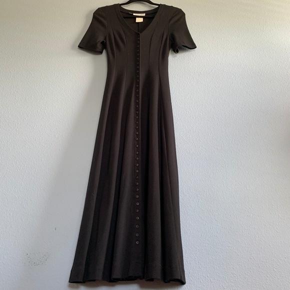 Diane Von Furstenberg Dresses & Skirts - Vintage Diane Von Furstenberg Black Maxi Dress